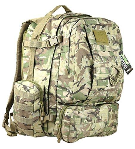 Zip Zap Zooom Multi Camo British Army Viking Tactical Patrol Assault Pack Rucksack Molle Travel Bag 60L