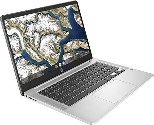 2020 Newest HP Chromebook 14 Inch Laptop, Intel Celeron N4000 up to 2.6 GHz, 4GB LPDDR4 RAM, 32GB eMMC, Bluetooth, Webcam, Chrome OS, White + NexiGo 32GB MicroSD Card Bundle