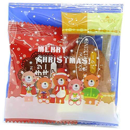 クリスマス お菓子 詰め合わせ 業務用 21個 セット マドレーヌ ビスケット 袋入り 10x10cm 国産 ノベルティ ラッピング パーティ 誕生日 子供会 プレゼント ギフト