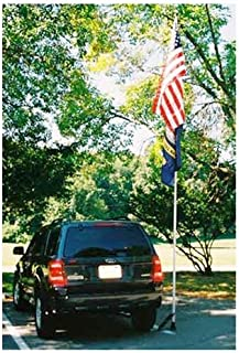 Valley Forge, American Flag Flagpole, 16', Telescoping Flagpole with Portable Wheel Mount and Nylon Carrying Case