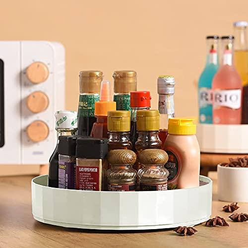Lazy Susan Organizador de armario para mesa giratoria 10 x 2 pulgadas, soporte giratorio para condimentos, para encimeras de cocina, nevera, despensa organizadores y almacenamiento