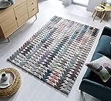 Flair Rugs Moda Archer Teppich, 100 % Wolle, mehrfarbig, 160 x 230 cm