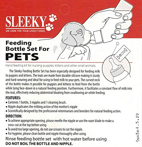 2 Set of Feeding Bottle Set for Pets, Hand Feeding kit for Nursing Puppies, Kitten and Other Animals, by Prime Shopping Online