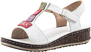 Summer Wedges Sandals for Women, Huazi2 Casual Platform Roman Peep Toe Shoes