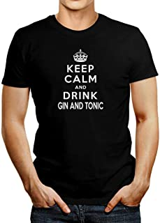 Idakoos Keep Calm and Drink Gin and Tonic T-Shirt