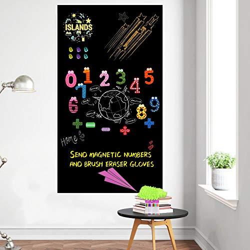 Tableau noir autocollant mural amovible pour chambre d'enfant, bureau scolaire avec craies (101,6 x 45,7 cm)