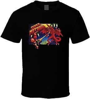Super Metroid SNES Box Art Retro Video Game T Shirt