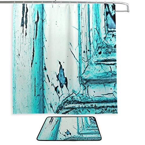 Cortinas de baño para Hombre, Puerta, Estructura Azul Turquesa, Cortina de Ducha...