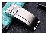 HUAHUA JUSU Store Accesorio de Reloj 316L Acero Inoxidable Oysterlock Hebilla Silver Tornillo Sólido Glidelock Fit para Daytona Submariner Strap Stock (Band Color : Matt Silver, Size : 16x9mm)