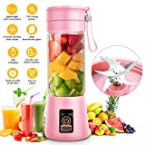 Portable Personal Blenders for Shakes and Smoothies,Juicer Cup with USB Rechargeabl Blender For Travel, Six 3D Blades,4000mAh Battery Strong Powerfor Great Mixing