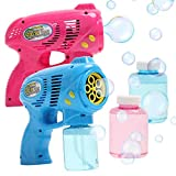 9. OleOletOy 2 Bubble Guns with 2 Bubble Solution Refill 5 oz Each, Bubble Maker Blower for Kids and Toddlers, Fun Summer Toy Blaster Game for Birthday Party and Wedding, Outdoor Toys for Boys and Girls
