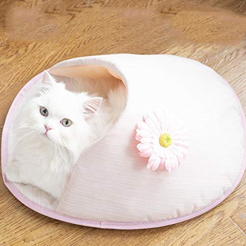 TYYM pet bed Tragbar Indoor Haustierbett, Cat Nest Frühlings- Und Sommerschuhe Große Katzen-Kennel Katze Schlafsack Katzenbedarf Grey-53 * 45 * 25CM