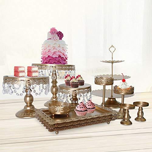 TFCFL - Juego de 12 soportes para tartas de cristal, soporte para cupcakes, para boda, fiesta, postre