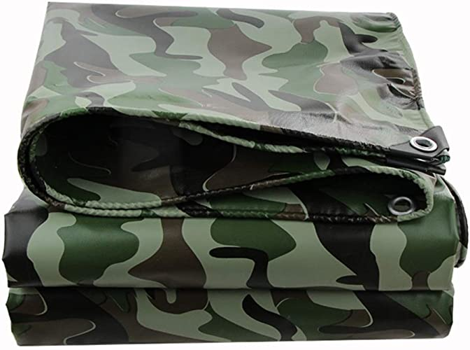 CZWYF Couvercle en Feuille MOULU IMPERMéABLE pour Tarpaulin TARP LéGER ET Impermeable Great Value Couleur Camo (Taille   6x10m)