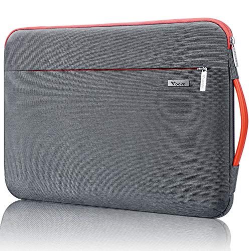 Voova 360°Protective Laptop Sleeve Case 11 11.6 12 inch, Waterproof Computer Cover Bag Compatible with Macbook Air/chromebook/surface pro 7 6/ Ipad Pro 12.9/12.5' Asus Acer Hp Tablet-Grey