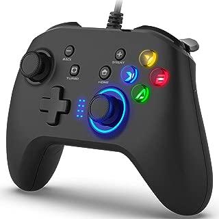 OPOLAR ゲームコントローラー pc USB有線ゲームパッド 二重HD振動 ケーブル長さ2m 連射機能・振動機能・ボタンカスタマイズ ボタン連射対応 高耐久 Windows7/8/8.1/10/XP Android、PC(Xinput&Dinput)、PS3、Nintendo Switchに対応