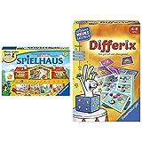 Ravensburger 21424 - Spielhaus - Kinderspielklassiker, spannende Bilderjagd für 2-4 Spieler ab 4 Jahren & 24930 - Differix - Spielen und Lernen für Kinder, Lernspiel für Kinder von 4-8 Jahren