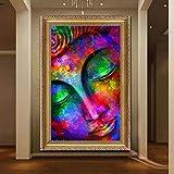 adgkitb canvas Gorila fumando Color Leopardo Buda Imagen impresión Lienzo Pintura al óleo Moderna hogar Pared Pintura decorativa40x60cm SIN Marco 1
