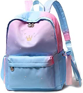 Casual School Backpack Travel Bag Blue Bow Backpack School Bag for Girl