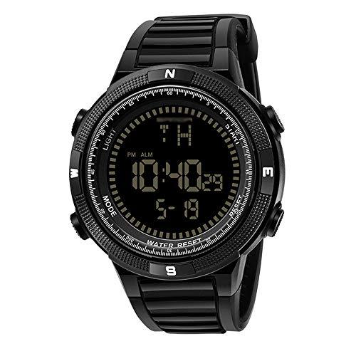 WTYU Relojes de muñeca Casuales de Moda, Reloj electrónico Deportivo para Hombres, 30m Resistente al Agua, caída y Resistencia a los Golpes. F