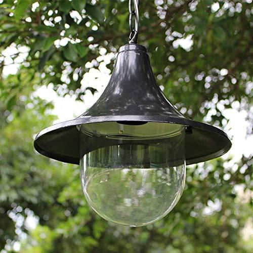 HLL Lámpara de araña, suspensión de techo de PVC para exteriores con pantalla de cuerno Ip44 Lámpara de araña para exteriores impermeable Pabellón Decoración de patio Estante de uva Pasillo E27 (Colo