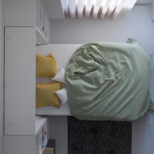 SMARTBett Basic 140×200 Vertikal Weiss Schrankbett   ausklappbares Wandbett, ideal geeignet als Wandklappbett fürs Gästezimmer, Büro, Wohnzimmer, Schlafzimmer - 7