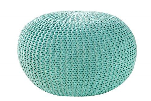 MAB Sitzpuff Sitzhocker Bodenkissen ver. Farben Ø 50 cm, 55 cm oder 80 cm Baumwolle (Mint)