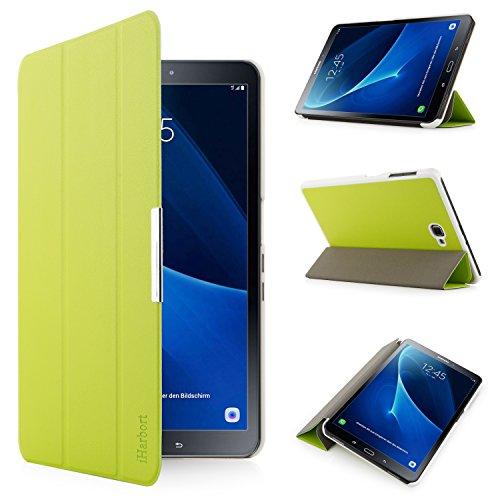 iHarbort Samsung Galaxy Tab A 10.1 custodia in pelle, ultra sottile di peso leggero Case Cover custodia in pelle per con il sonno / sveglia la funzione Samsung Galaxy Tab A 10.1 pollice (2016 Version SM-T580N SM-T585N), (Galaxy Tab A 10.1, Verde)