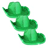 blinkee LED Flashing Cowboy Hat with Green Sequins - Three Pack