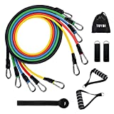 TUYOI Exercise Resistance Bands Set,Home Gym Equipment Men Women for Home Workouts,Fitness,Resistance Training