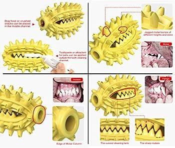 Jouet pour Chien , bâton de Brosse à Dents, Brosse à Dents pour Chien, Soins dentaires, sûr et Non Toxique, Soins bucco-dentaires à 360°, Maintien de la santé bucco-Dentaire du Chien (Jaune).