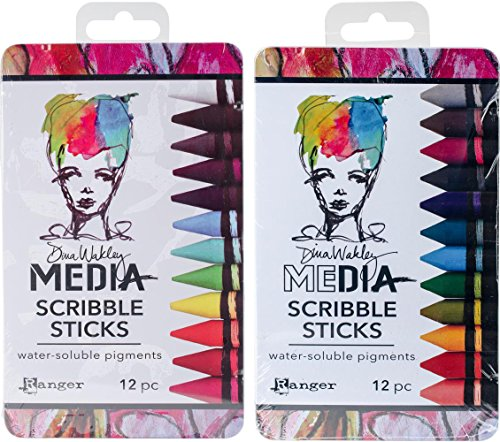Ranger - Dina Wakley Media - Scribble Sticks - 2017 and 2018 Release Set