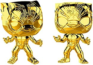Pop! Marvel Studios 10th - Figura de Colección Black Panther Chrome