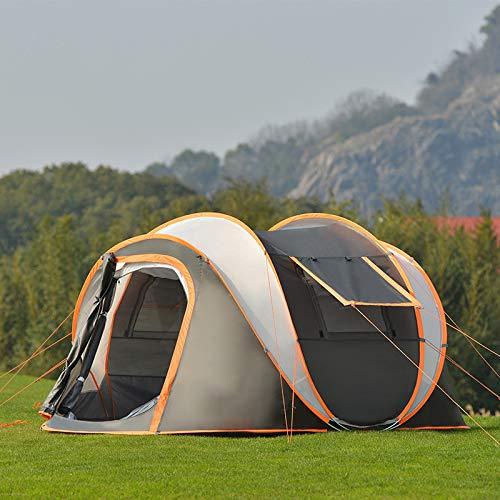 Wasserdicht Pop Up Zelt Mit Top, Familie Camping-Zelt, Panorama-Ineinander Greifen Skylight Entwurf, Open in Einer Sekunde, Double-Layer-Struktur, Licht Und Portable 270Cmx 210Cmx 135Cm