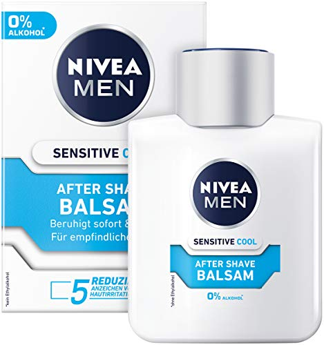 NIVEA MEN Sensitive Cooling Aftershave Balsem | Met kamille en zeerwier-extracten | Verzacht en kalmeert de huid | 3-pack, 3 x 100 ml