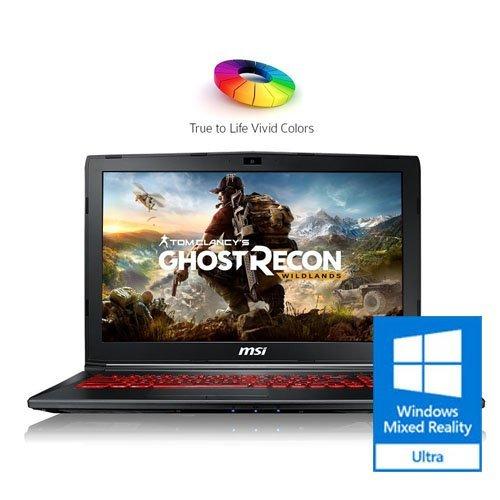 MSI Flagship 15.6' FHD Gaming Laptop | Intel Core i7-7700HQ Quad-Core | NVIDIA GeForce GTX 1050Ti 4G GDDR5 | 16GB RAM | 128GB M.2 SATA + 1TB HDD | Windows Mixed Reality Ultra Ready | Windows 10 Home