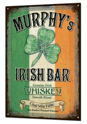 Murphys Irish Bar Large Tin Sign Metal Rustic Bar Luck Beer Pub Plaque Retro Blechschilder