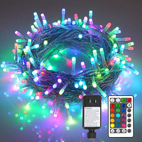 Fairy Lights,66ft 200LEDs Plug in LED Christmas Decorations Lights with Remote Multi Color Changing String Lights for Bedroom Party Holiday Indoor Outdoor Christmas Lights