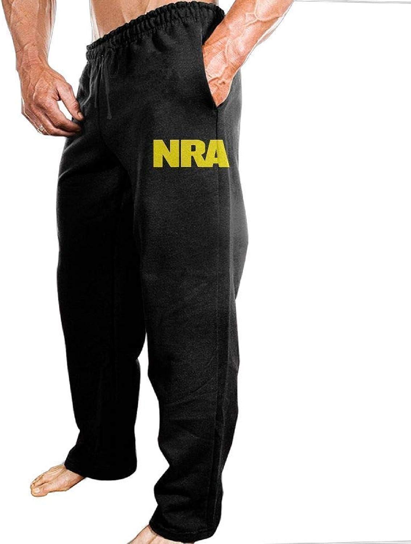 Lalaeltd NRA National Rifle Association Men's Sweatpants Dry Heavyweight