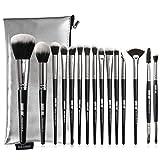 Juego de 15 brochas de maquillaje profesionales para colorete, sombra de ojos, lápiz de cejas y pincel de labios, herramientas de belleza para la chica que amas