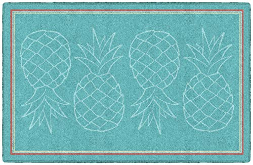 "Brumlow MILLS Dusty Blue Pineapple Fruit Home Decor Kitchen Area Rug, Non Slip Entryway Rug, 2'6"" x 3'10"" Dusty Blue (LW10083-30x46)"