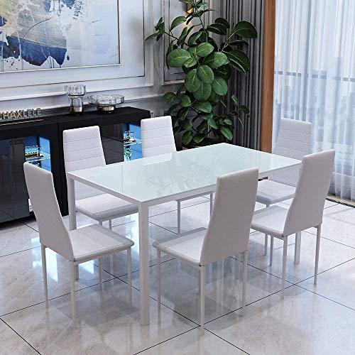 Traje de diseño moderno comedor conjunto de alto brillo mesa de comedor,White
