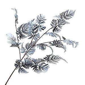 Silk Flower Arrangements Acamifashion 1 Pc Artificial Tree Leaves Branch Realistic Multi-use Excellent Faux Silk Flower Plant Fern Leaf Twig Ornament Display for Home Decor Blue