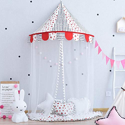 Castle Play Tent For Indoor And Outdoor Games,Children's indoor tent, half moon bed curtain hanging tent-B_118*60cm,Castle Tent Toy Play Tent Portable Collapsible