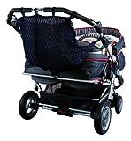 Sunnybaby 850120509 Kinderwagen-Einkaufsnetz für Zwillingswagen mit Sichtschutz - Farbe: MARINE-BLAU