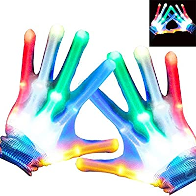 heytech Led Gloves Light-up Party LED Party Supplies Gloves Multicolor Led Glove for Halloween,, Dance Costumes, Kids Gift, Boys Gift, Light-up Party. from heytech