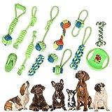 Hundespielzeug 13pcs Hergestellt Aus Natürlicher Baumwolle Set Intelligenz Hundeseile Spielset Seil...