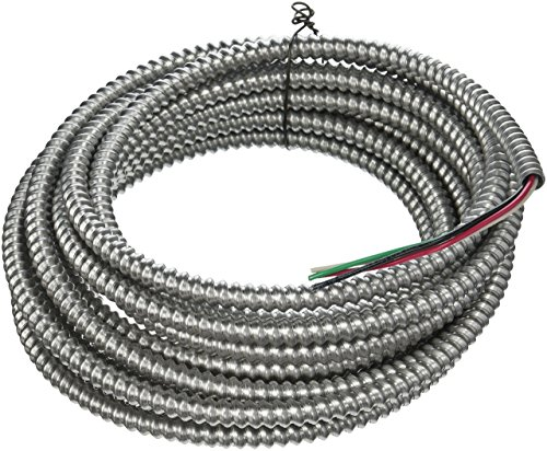 Southwire 68582621 25 ft. 14-3 Solid CU Armorlite Metal-Clad Cable