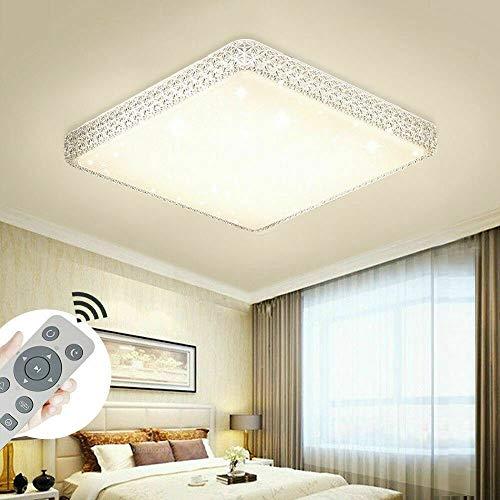 64W Lámpara de techo LED de regulable, lámpara de techo de cristal estrellado para salón, sala de estar, cocina, oficina,regulable (3000-6500K) con control remoto (64)