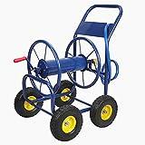Anbull 4-Wheel Hose Reel Cart Holds for Garden Industrial 400-Feet of 1/2-Inch Hose/330-Feet of 3/4-Inch Hose